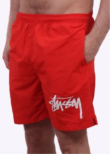 Stussy Stock Elastic Waist Shorts - Red