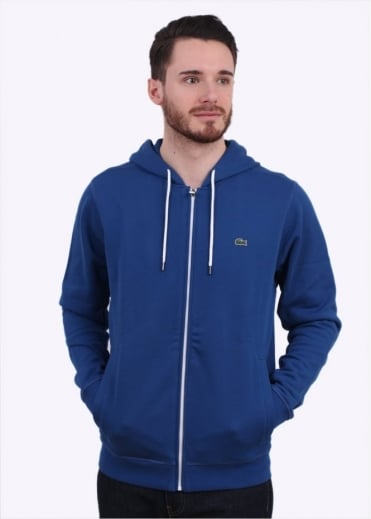 Lacoste Zip Hoody - Sailboat Blue