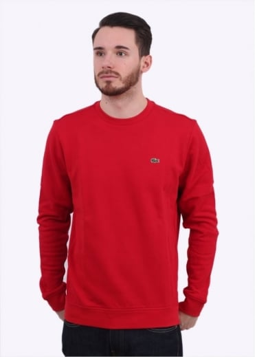 Lacoste Crew Sweater - Lighthouse Red
