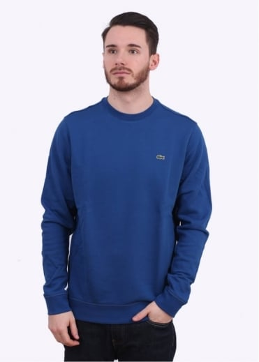 Lacoste Crew Sweater - Sailboat Blue