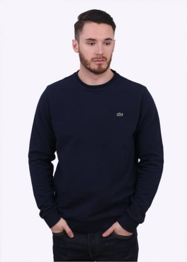 Lacoste Knit Sweatshirt - Navy
