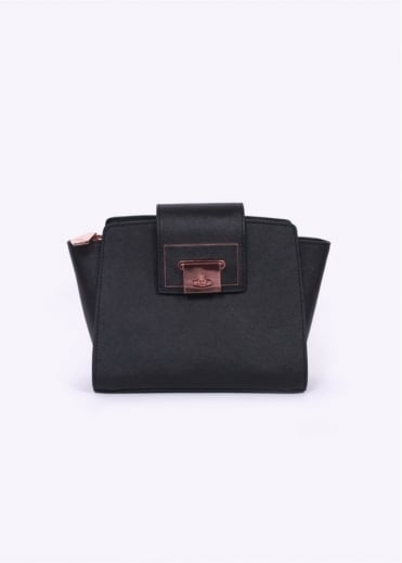 Vivienne Westwood Accessories Mini Opio Saffiano Bag - Black