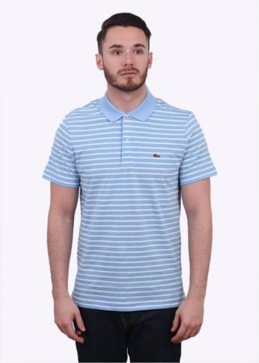 Lacoste Stripe Polo Shirt - Nattier Blue