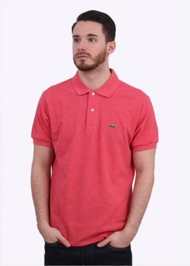 Lacoste SS Best Polo Shirt - Veil Pink Chine