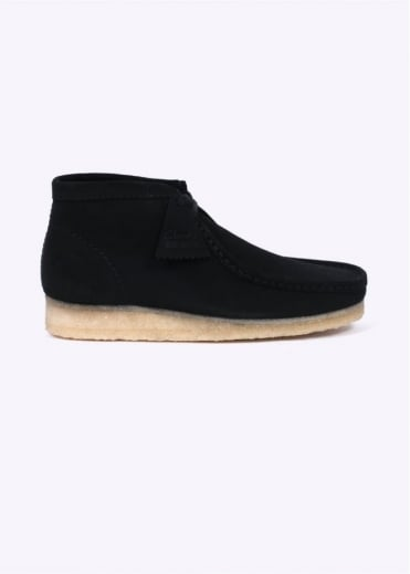 Clarks Originals Wallabee Boot Black - Natural