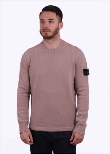 Stone Island Knit Crewneck - Antique Rose