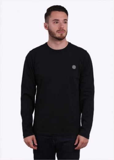 Stone Island LS Badge Tee - Black
