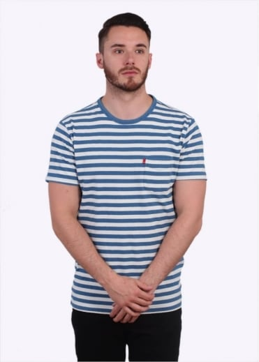 Levi's Red Tab Pocket Tee Stripe - Light Indigo