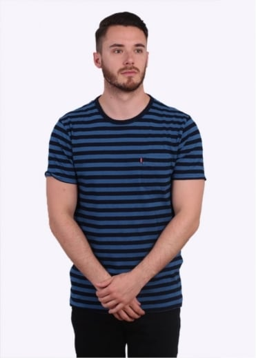 Levi's Red Tab Pocket Tee Stripe - Dark Indigo