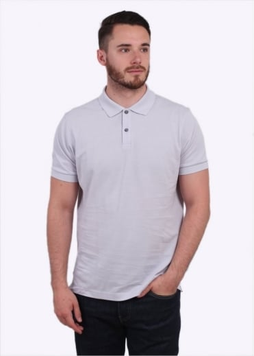 Sunspel Short Sleeve Pique Polo Shirt - Grey