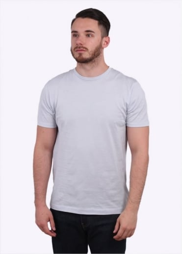 Sunspel Q82 Short Sleeve Crew Neck Tee - Grey Dawn