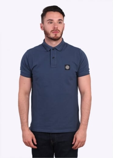 Stone Island SS Polo Shirt - Dark Blue