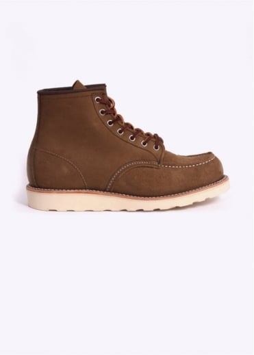 "Red Wing Shoes 6"" Classic Moc Boots - Olive Mohave"