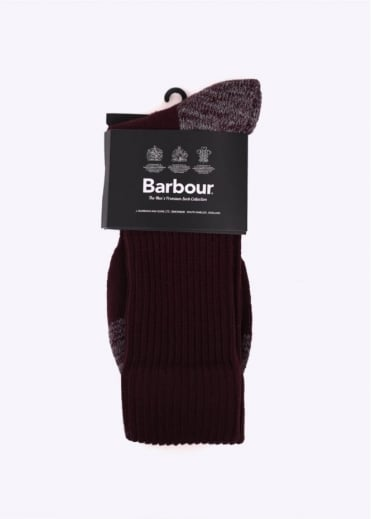 Barbour Terrain Socks - Merlot