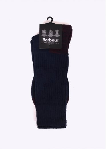 Barbour Terrain Socks - Navy