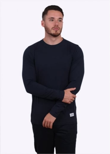Norse Projects Niels Basic Long Sleeve Tee - Navy