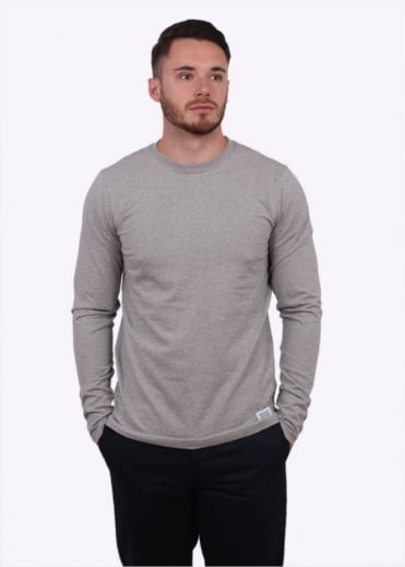 Norse Projects Niels Basic Long Sleeve Tee - Light Grey