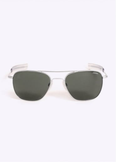 Randolph Engineering Aviator Sunglasses - Matte Chrome / AGX