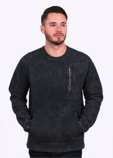 Stone Island Shadow Project Zip Crew Sweater - Charcoal