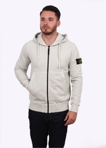 Stone Island Garment Dyed Hooded Sweater - Plaster