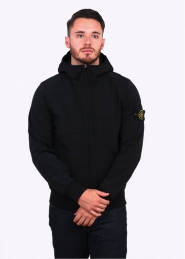 Stone Island Soft Shell-R Jacket - Black