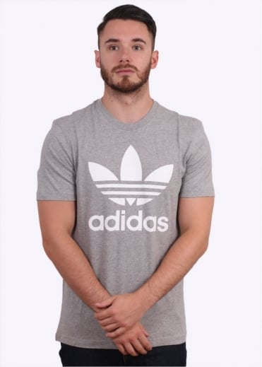 Adidas Originals Apparel Original Trefoil Tee - Grey