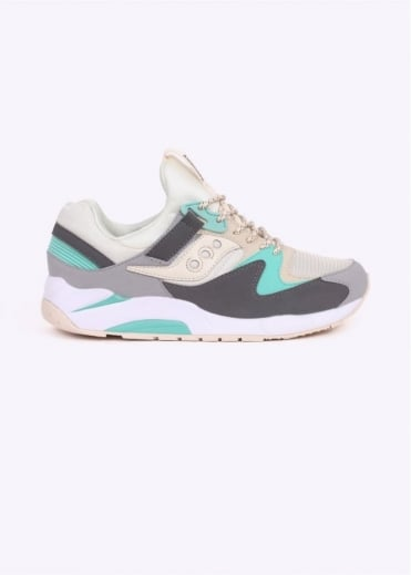 Saucony Grid 9000 - Tan / Charcoal / Mint