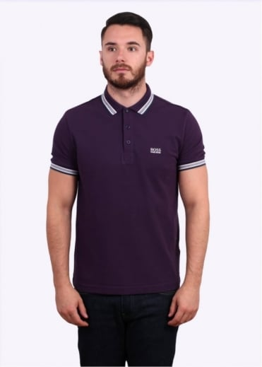 Hugo Boss Green Paddy Polo Shirt - Bright Purple
