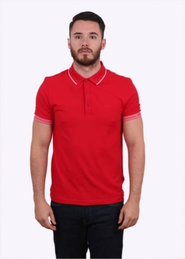 Hugo Boss Green Paule Polo Shirt - Medium Red