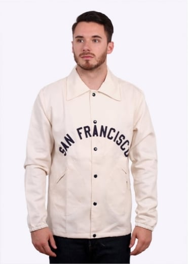 Ebbets Field Flannels Surf Riders Windbreaker - Cream / Navy