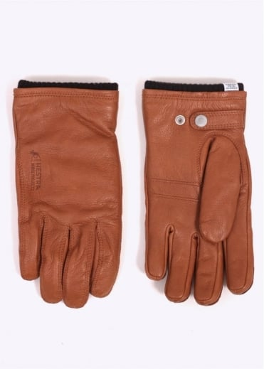 Norse Projects x Hestra Utsjo Leather Gloves - Tobacco