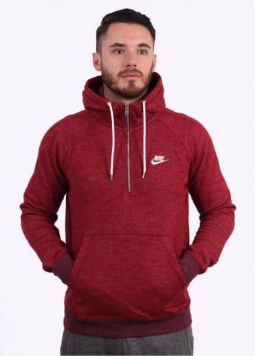 Nike Apparel Legacy 1/2 Zip Hoodie - Team Red