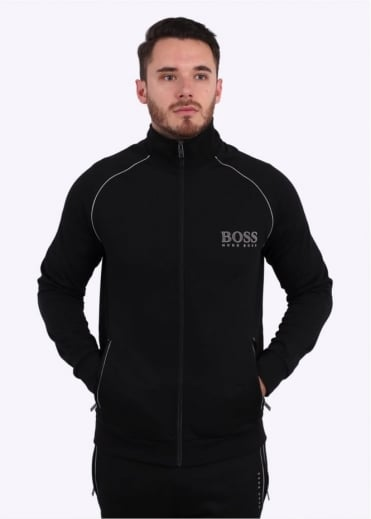 Hugo Boss Green Zip Track Jacket - Black
