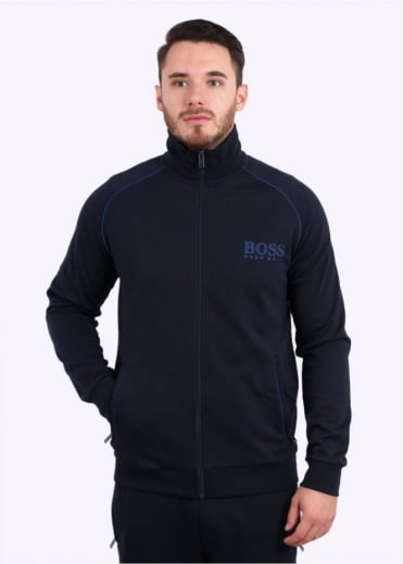 Hugo Boss Green Zip Track Jacket - Dark Blue