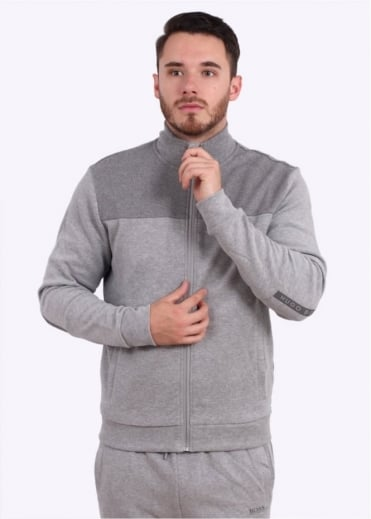 Hugo Boss Green Selwyn Track Jacket - Light Grey
