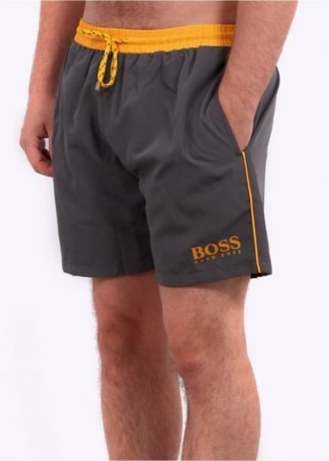 Hugo Boss Green Starfish Shorts - Dark Grey