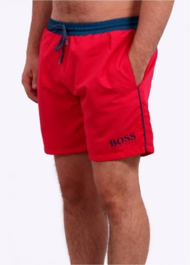 Hugo Boss Green Starfish Shorts - Medium Pink