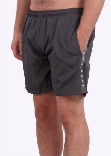 Hugo Boss Green Seabream Shorts - Dark Grey