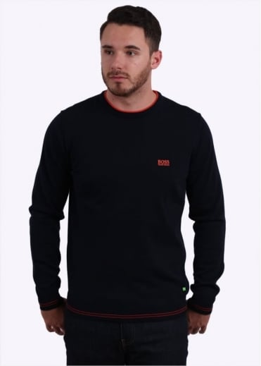 Hugo Boss Green Rime W16 Sweater - Navy1