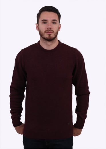 Barbour Patch Crew Sweater - Merlot