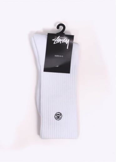 Stussy Mini SS Link Socks - White