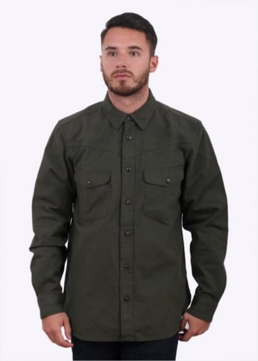 Filson Yukon Chamois Shirt - Dark Forest Green