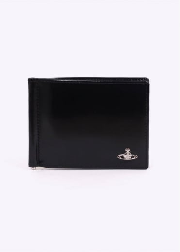 Vivienne Westwood Accessories Clip Wallet - Black / Light Blue