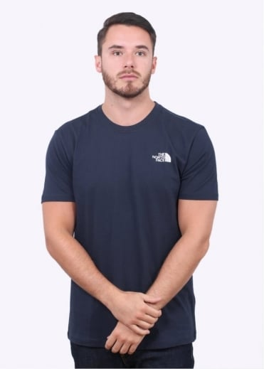 The North Face SS Red Box Tee - Navy