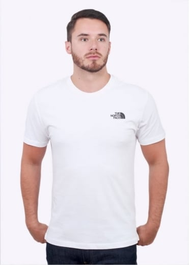 The North Face SS Red Box Tee - White