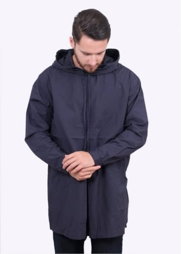 Monitaly Hooded Invert Pullover Jacket - Navy