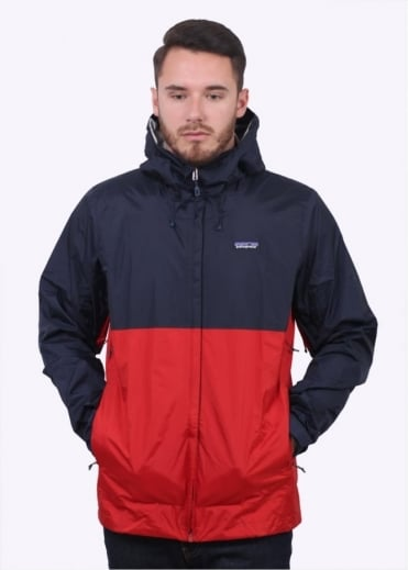 Patagonia Torrentshell Jacket - Navy / Red