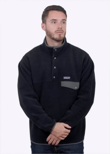 Patagonia LW Synchilla Snap-T Pullover - Black