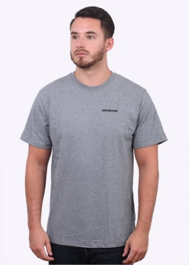 Patagonia P-6 Logo T Shirt - Gravel Heather Grey