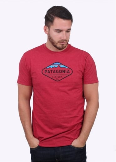 Patagonia Fitzroy Crest T-Shirt - Raspen Red